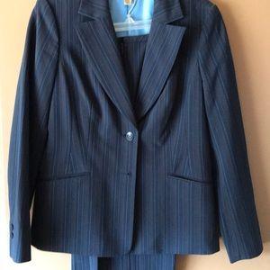 Ladies pin stripe jacket and pants size 10 petite